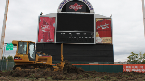 Heavy movers will take 600 truckloads of dirt out of Coca-Cola Field.