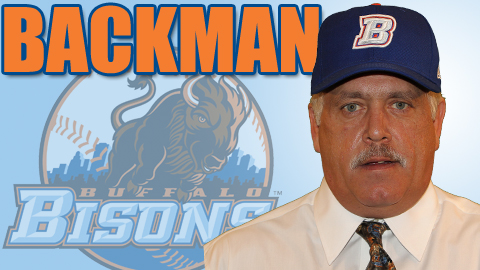 Backman is the 17th manager in the Bisons modern era.