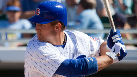 Anthony Rizzo was acquired from the Padres in an offseason trade.