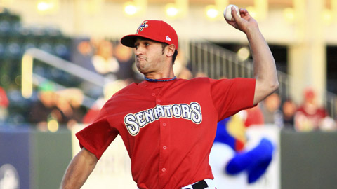 Danny Rosenbaum has gone 2-0 with a 1.25 ERA in three starts this year.
