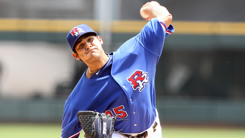 Martin Perez is 5-5 with a 4.59 ERA for Round Rock this season.