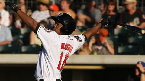 Robert Maddox is batting .340 with five homers in 13 games.