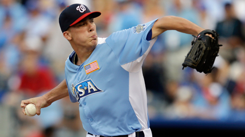 Alex Meyer retired both batters he faced in the All-Star Futures Game.