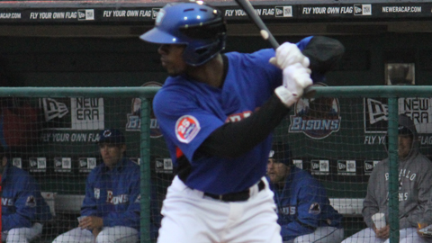 Reliable Bisons fielder Fred Lewis notched a double on Tuesday night.