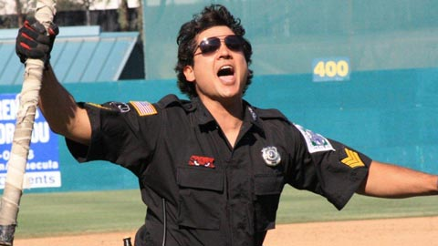 The Rally Cop is one of the stars of Lake Elsinore's character cavalcade.